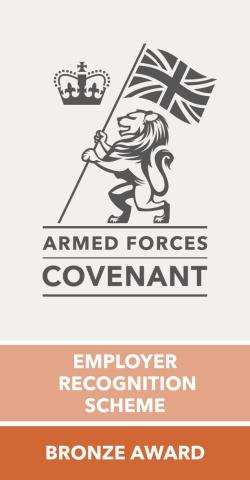 Armed Forces Covenant Employer Recognition Scheme Bronze Award Logo