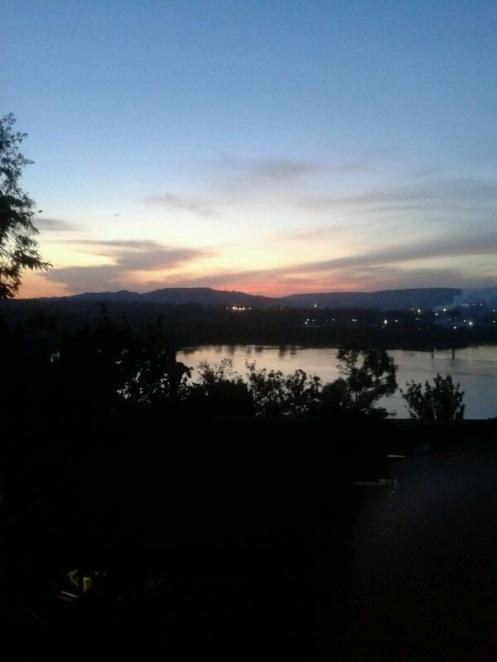 Megan's first photo from Uganda - Lake Victoria at sunset - Jinja