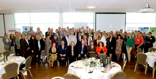 Attendees at the last Exeter Business Network event at Sandy Park