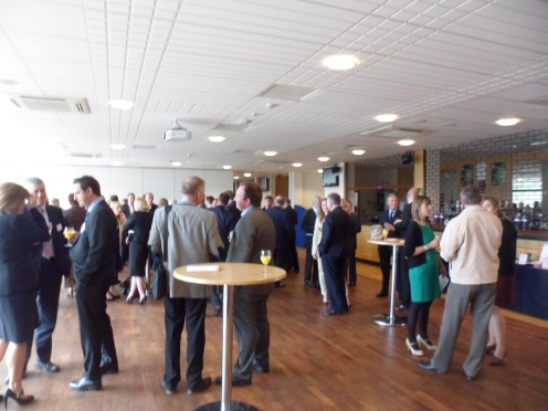 Pre lunch drinks and networking - all sorts of conversations and connections being made