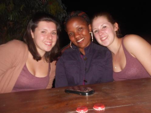 Megan, Annette and Sophie in Uganda