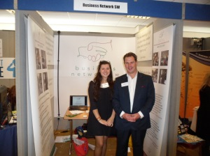 Megan and Sean Humby - Exeter Business Network hosts will be exhibiting at Devon Business Expo 2014