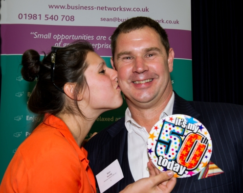 Megan presenting me with my badge!  Photo by Malcolm Rouse Photography