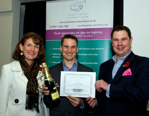 Anita Newcombe - Devon Air Ambulance Trust - Chair or Trustees; Alex Wren Bitpod; Sean Humby - Business Network SW