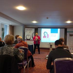 Inge starting her seminar