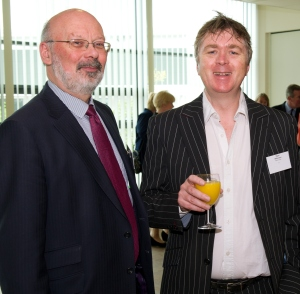 Nigel Wilkinson - right with Alistair Heron of Gilbert Stephens Solicitors at a recent Exeter Business Network event