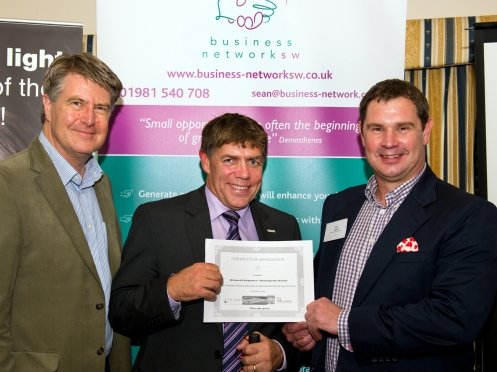 "Phil Roberts - St Loye's Foundation, Richard Carpenter - Enterprise Assist and Sean Humby.  Richard was nominated by St Loye's for all the help in helping get the business ""Listen to Win"" set up   with GB Paralympians Keryn Seal and Robin Williams"