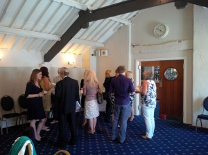Networking over coffee before Julia's seminar begins..