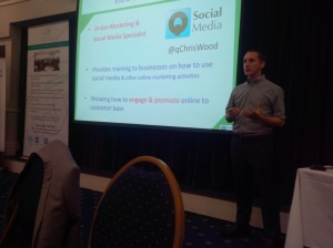 Chris Wood - Q Social media - sharing his expertise on Twitter Advertising