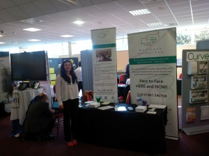 Megan Humby - BNSW Event Host - at the Business Network SW stand (No 72)