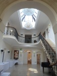 The entrance hall at 8.30am