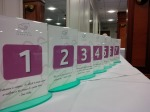 In preparation - table numbers at the ready - thank you N3 Display Graphics for these!