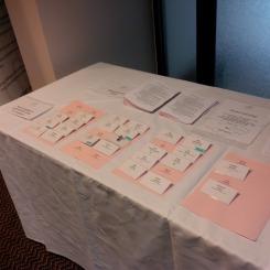 Badges; event programmes ready