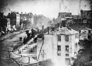 "Boulevard du Temple, Paris. Louis Daguerre 1838 - with the first ever ""capture"" of people...."