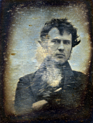 Robert Cornelius Self Portrait. Philadelphia 1839