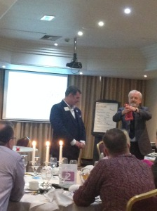 Mark Leveridge being magical at a Bristol Business Network event earlier this year!