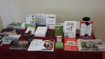 Literature, giveaways brought by the members