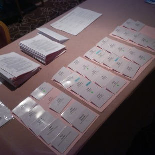 Personal name badges for all attendees and event programme with delegate list